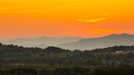 landscape of the valleys after sunset Stock Photo - 16798284