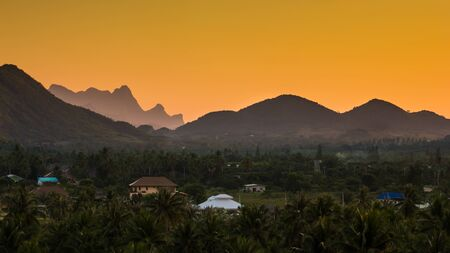 landscape of the valleys after sunset Stock Photo - 16798287