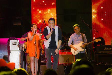 HUA HIN, THAILAND - DECEMBER 31 : Ben Chalatit performs live concert during Hua Hin Music Countdown 2013 on December 31, 2012 in Hua Hin, Prachuapkhirikhan, Thailand