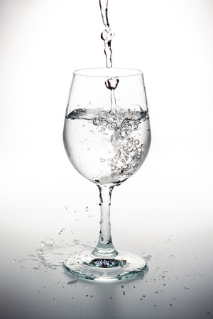 Drinking water pouring into glass  photo