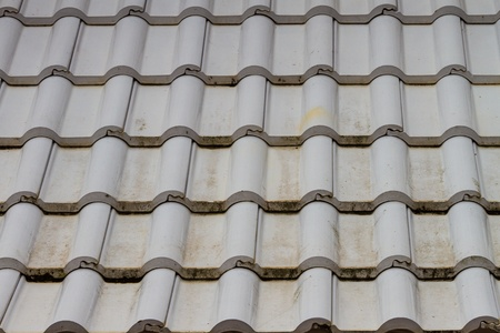 Gray tiled roof texture for background photo