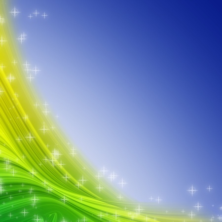 multi media: elegant colorful swath and star abstract background