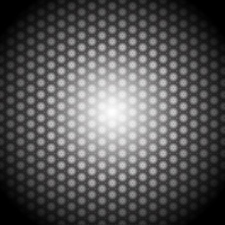 Hexagon lights with dark background