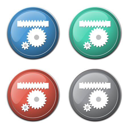 Gears icon abstract background Vector