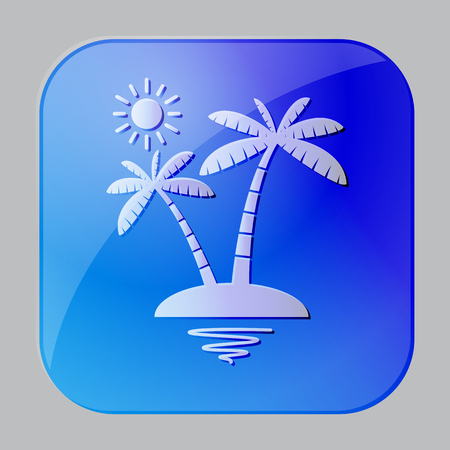 Sun and coconuts summer icon  Vector Illustration Vector