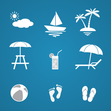Summer icons set  Vector Illustration Vector