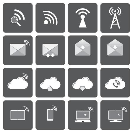 communication icons: communication icons set.