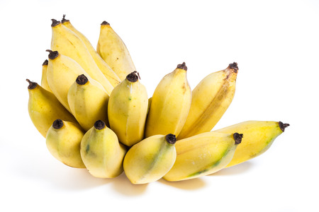 Isolated cultivated banana on white background