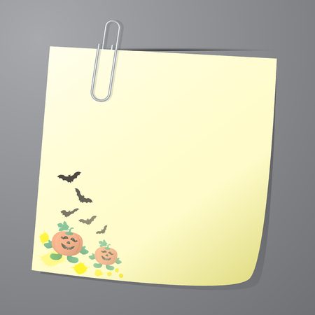 paper note: Paper note of Halloween background, Vector illustration EPS10 Illustration