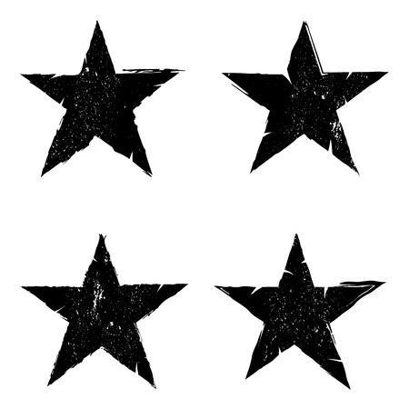 Grunge star background textures set, Vector background EPS 10