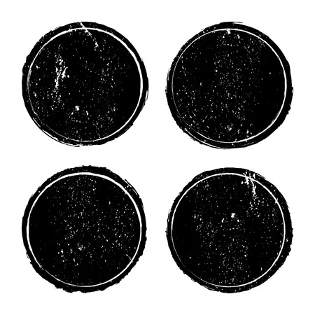 Grunge circle stamp background textures set, Vector background EPS 10 Vector