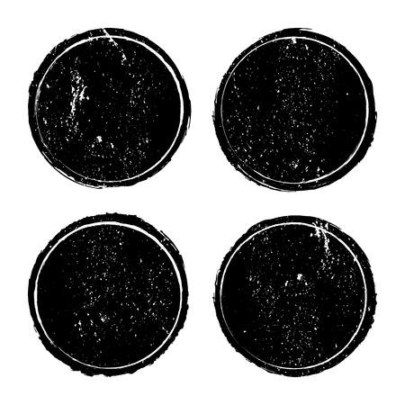 Grunge circle stamp background textures set, Vector background EPS 10
