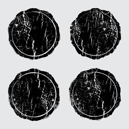 Grunge stamp wooden textures set, Vector background EPS 10 Vector
