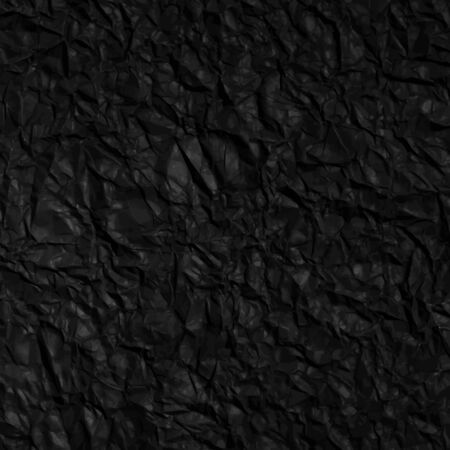 Textures crumpled paper black color, vector background EPS 10 Vector