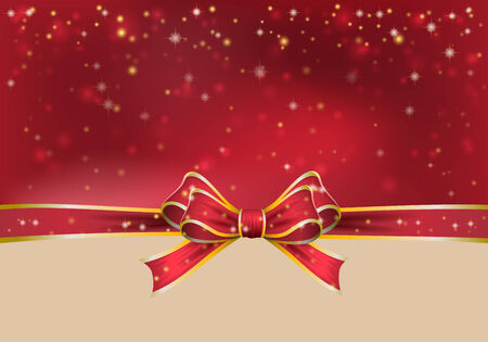christmas bow: Christmas background with bow. vector illustration Illustration
