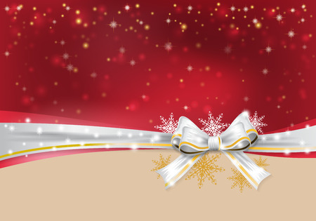 happy holidays: Christmas background with bow. vector illustration Illustration