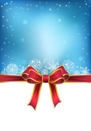Christmas background with bow. vector illustration Vector