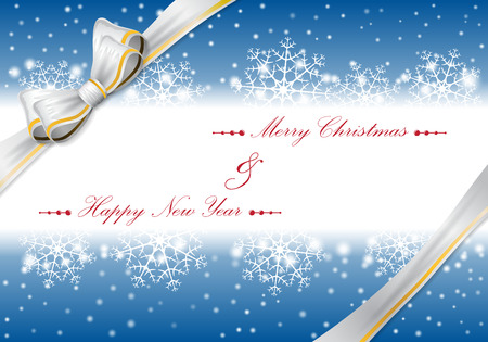 Christmas background with bow. vector illustration 矢量图像