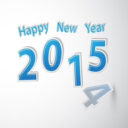 Happy new year 2015, Vector illustration Vector