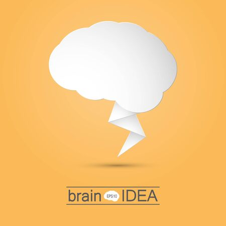 nerve message: Brain idea design vector illustration