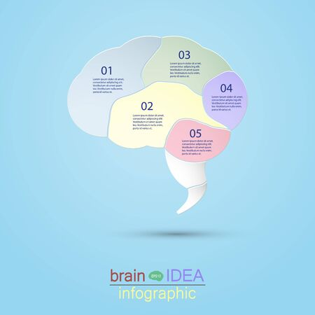 nerve message: Infographic Brain idea design vector illustration