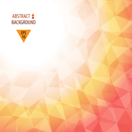 Abstract colorful triangular low poly style vector background