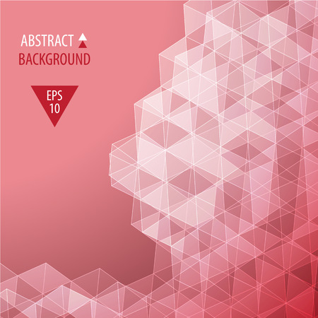 Abstract colorful triangular low poly style vector background Vector
