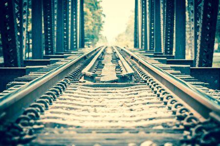 Vintage of railway bridge photo