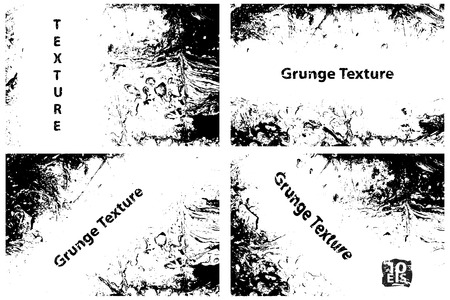 Grunge textures set, Vector background illustration Illustration