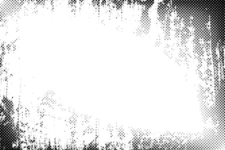 halftone: Border frame grunge halftone dots vector texture background