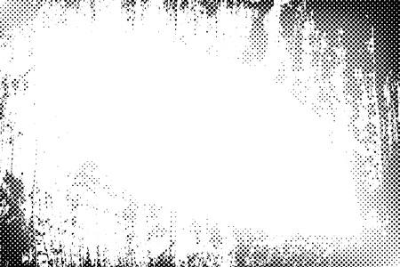Frontière grunge points de trame vecteur texture de fond