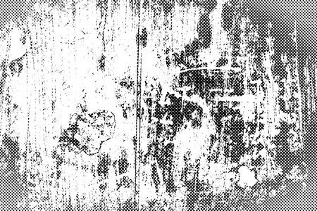 Grunge texture with overlay halftone dots effect, Vector background illustration Illusztráció
