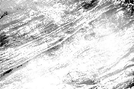 Grunge texture with overlay halftone dots effect, Vector background illustration Иллюстрация