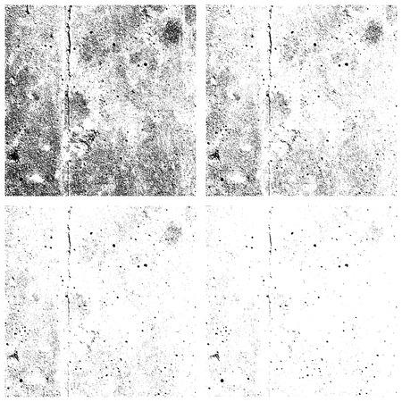 Grunge textures set, Vector background illustration Çizim
