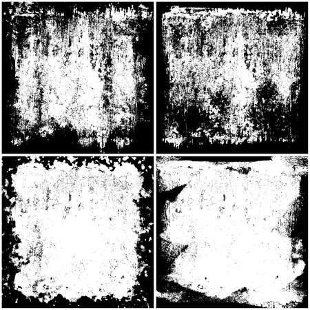 Grunge textures set, Vector background illustration Illustration