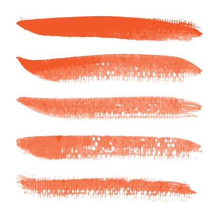 brush strokes: Orange watercolor brush strokes, Vector illustration EPS 10