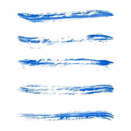 brush strokes: Blue watercolor brush strokes, Vector illustration  Illustration