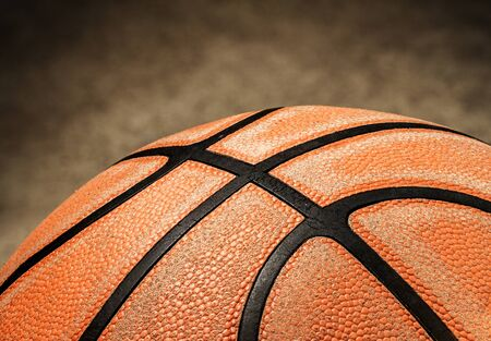Old basketball texture Stock Photo