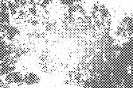 spotted line: Grunge texture with overlay halftone dots effect