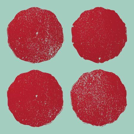 grunge textures: Grunge circle stamp background textures set Illustration