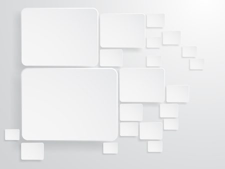 Abstract Square Shape background in gray color, Vector illustration.  イラスト・ベクター素材