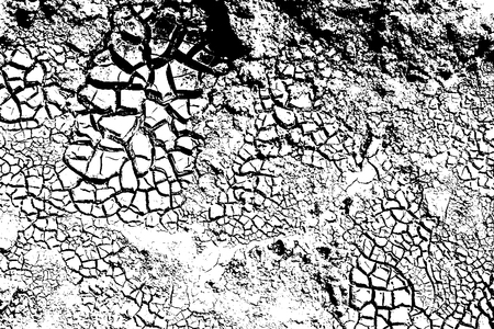 Dry Cracked Earth Texture Background, Vector Illustrator EPS10 Illustration