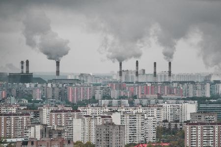 Distrito residencial cinzento e sujo do ponto alto: v