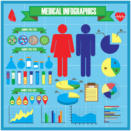 human body: Medical and health icons and infographic elements. Vector illustration.