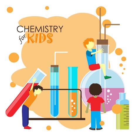 symbole chimique: Chalk conseil doodle avec des symboles et des icônes des médias sociaux. Vector illustration. Ensemble de griffonnages d'enseignement et d'apprentissage.