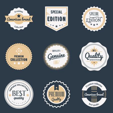 Premium quality labels set. Stock Illustratie