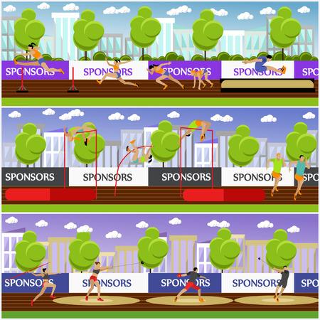 athletics: Sport of athletics concept vector illustration. Illustration