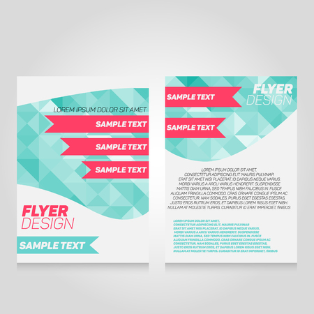 flier: Brochure flier design template. Vector poster illustration. Leaflet cover layout in A4 size. Illustration