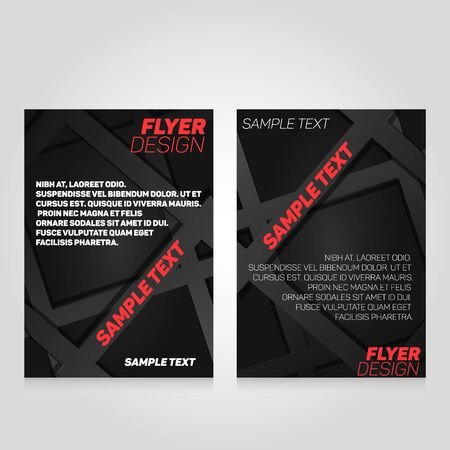 flier: Brochure flier design template. concert poster illustration. Leaflet cover layout in A4 size. Stock Photo