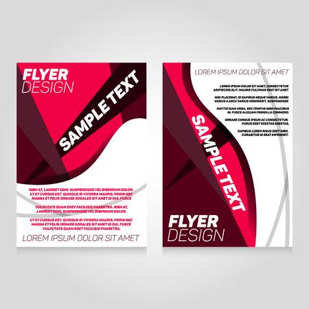 flier: Brochure flier design template. Vector concert poster illustration. Leaflet cover layout in A4 size.